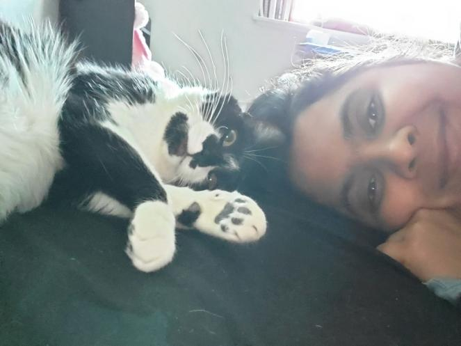 Namitha and Cat