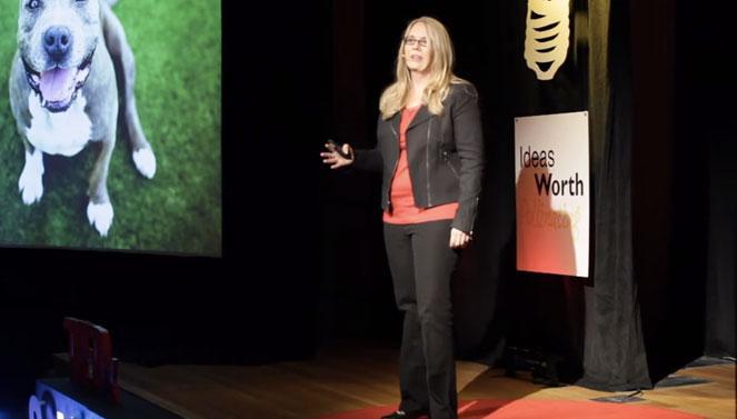 Julie Castle speaking at Tedx